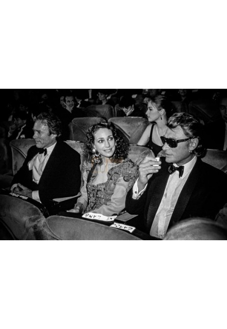 Johnny Hallyday, Marysa Berenson & Clint Eastwood