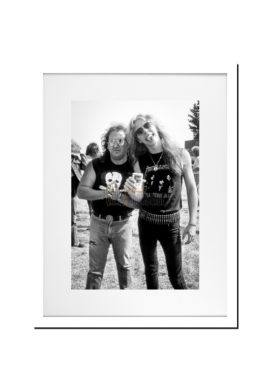 James Hetfield (Metallica) & Carl Canedy (The Rods)