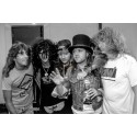 Lars Ulrich, Slash, Axl Rose, Dave Mustaine & Jeff Young