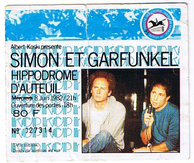 >Billet Simon & Garfunkel 1982